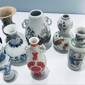 Franklin Shoguns Miniature Vases Set of 8 Japan